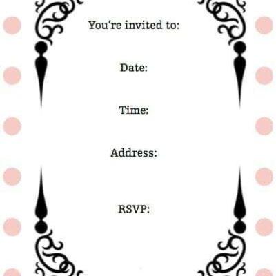 Pink Polka-Dots Invitation